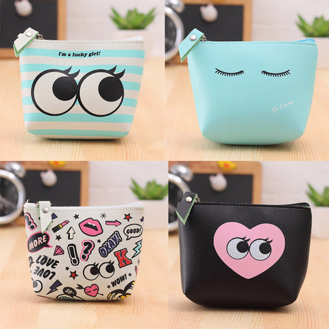 Summer New Leather Coin Purses Small Fresh Casual Pu Coin Wallet Lady Fashion Cute Pattern
