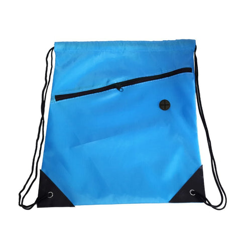 Universal Drawstring Bag Schoolbag Backpack Pe Gym Sports Swim Bag With Zipper