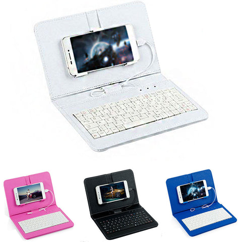 Wired Keyboard Holster Flip Case Universal Wrap Sleeve 4 Colors Pc Leather Accessories Protector