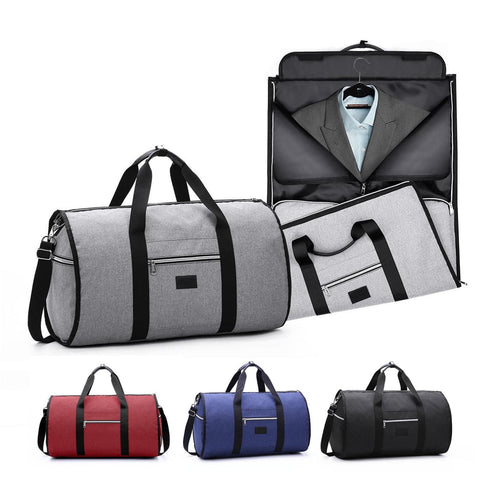 Waterproof Travel Bag Mens Garment Bags Women Travel Shoulder Bag 2 In 1 Large Luggage Duffel Totes