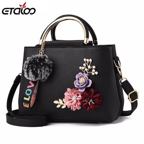 2018 Flowers Shell Women'S Tote Leather Clutch Bag Small Ladies Handbags Brand Women Messenger Bags