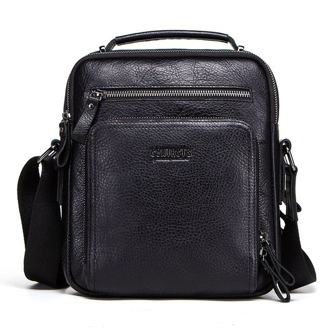 Contact'S 100% Genuine Leather Men Shoulder Bag Crossbody Bags For Men High Quality Bolsas