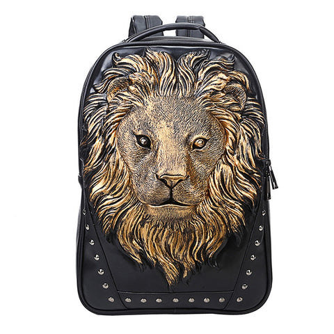 Fashion Pu Leather Woman And Man Unisex Backpack Daypack Knapsack School Bag Travel Handbag
