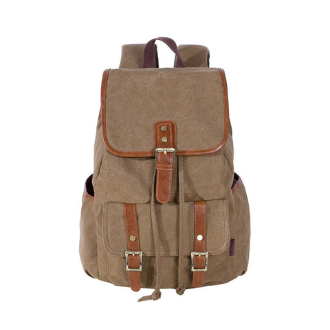Kaukko Vintage Style Multi-Functional Unisex Men Women Canvas Backpack Rucksack Student School