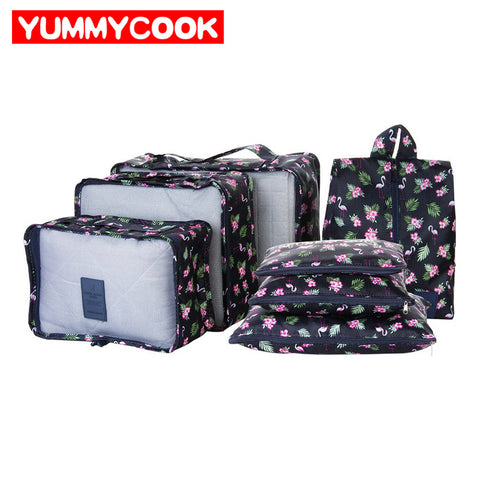 7Pcs/Set New Women Clothes Underwear Storage Bag Travel Shoes Pouch Luggage Organizer Case