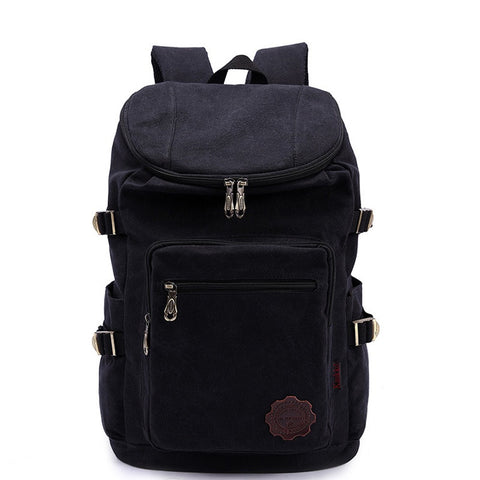 Kaukko Vintage Style Men'S Boys Large Capacity Leisure Canvas Travel Backpack Rucksack Laptop