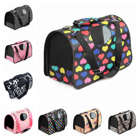Pet Carrier For Small Dogs & Cats 12 Style Fashion Print Airline Approved Under Seat Handbag
