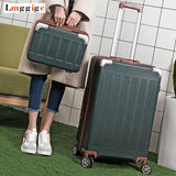 Universal Wheel Suitcase Bag,Strong Zipper Luggage, Abs Shell Case,Aluminum Alloy Rods Travel