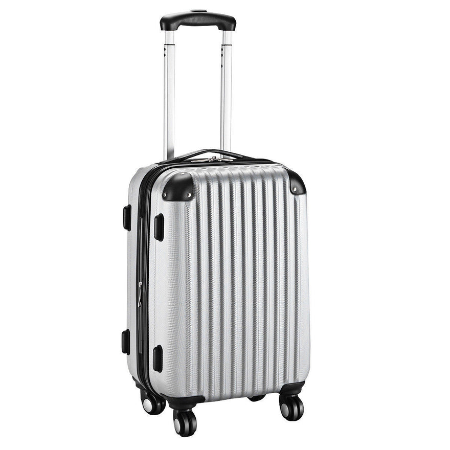 Globalway 20''Expandable Abs Carry On Luggage Travel Bag Trolley Suitcase Gray