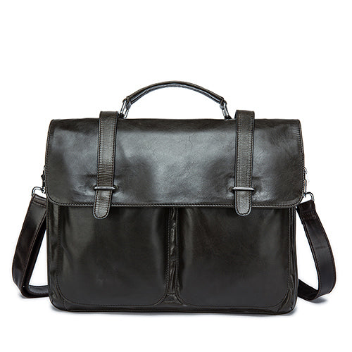 Westal Messenger Bag Men'S Briefcases Document Male Bags Genuine Leather Man Leather Laptop Bags