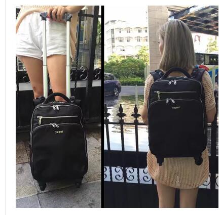 Women Trolley Backpack 20 Inch Travel Trolley Luggage Backpack Bag Luggage Suitcase For Women