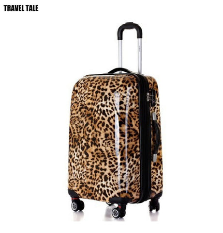 "20""24""28 Leopard Print Travel Suitcase Kinder Koffers Trolleys Luggage Set For Women"