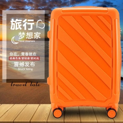 Travel Tale 20/24 Super Light Pp Grind Arenaceous Fashion Rolling Luggage Spinner Brand Travel