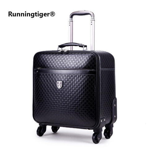 "16""20""24"" Inch Luggage Suitcase Bag,Waterproof Pu Leather Travel Box With Wheel ,Rolling Trolley"