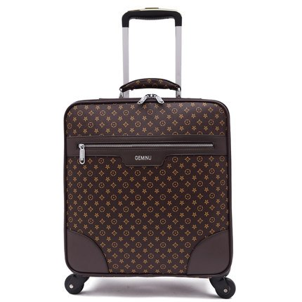 "High-End Luxury Pu Rolling Luggage Rotator Men'S Luggage 16""20""22""24"" Inch Business Class Travel"