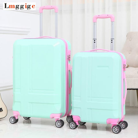 New Password  Suitcase 20 Inch 24 Inch Luggage Spinner Trolley Caster Students Box Wholesale