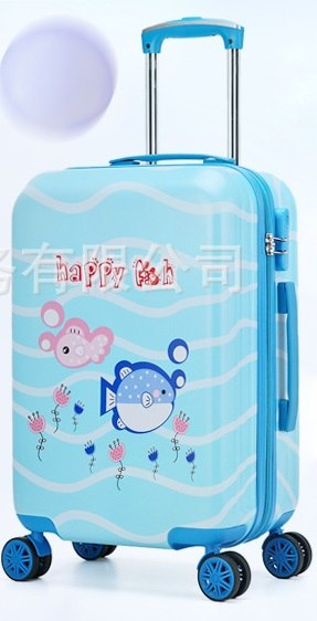 Letrend New 19'20' Cute Cartoon Suitcases Wheel Kids Dinosaur Rolling Luggage Spinner Trolley