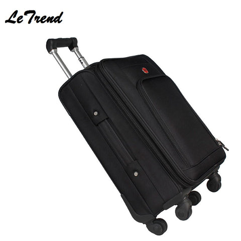 Letrend Business Rolling Luggage Spinner 18 Inch Men Multifunction Carry On Wheels Suitcases