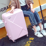 Wholesale!14 22Inches Abs Lovely Color Case Travel Luggage On Universal Wheels For Young