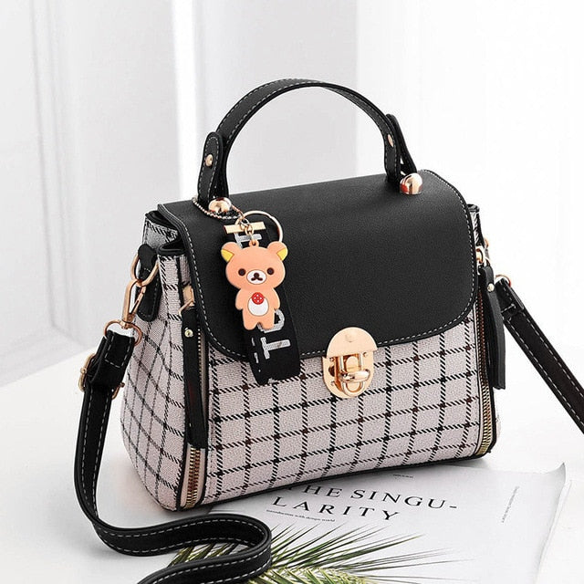 2018 Fashion Girls Handbags For Women Commuter Package Pu Patchwork Soft Female Totes Top-Handle