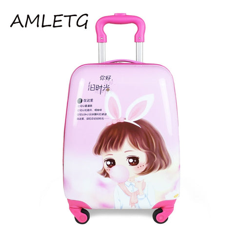 The New 2018 Cartoon Kid'S Travel Trolley Bags Suitcase For Kids Children Luggage Suitcase