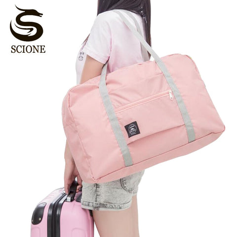 NEW Folding Travel Bag Nylon Travel Bags Hand Luggage for Men & Women Fashion Travel Duffle Bags Tote Large Handbags Duffel