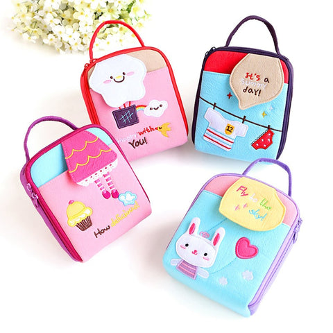 Cotton Hand Travel Zipper Cosmetic Makeup Storage Handbag Bag Key Coin Pouch Menstrual Pad Bag