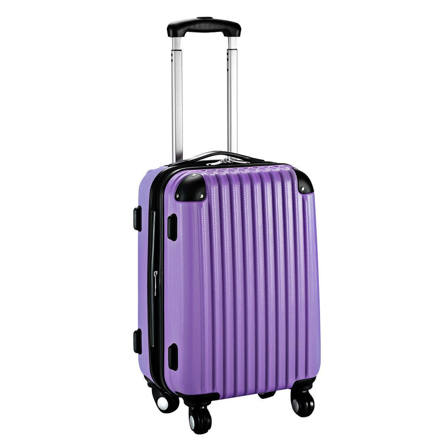 Globalway 20'' Expandable Abs Carry On Luggage Travel Bag Trolley