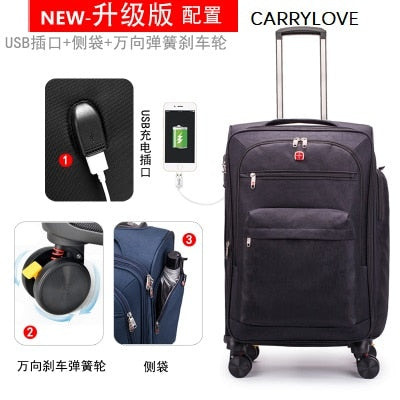 Carrylove Multifunction Luggage 20/24/28 Size High Quality,Waterproof Wild Travel Luggage Spinner