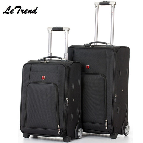 Business 20/24Inch High Quality Travel Multi-Function Luggage Hand Trolley Men Boarding Suitcase