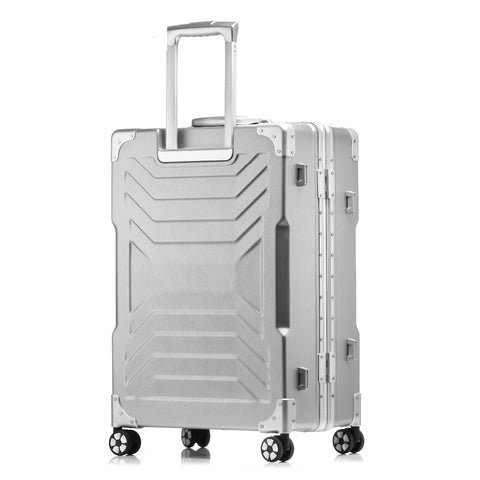 20''24''26''29Women Travel Luggage Aluminum&Pc Suitcase Boarding Case Rolling Luggage Case