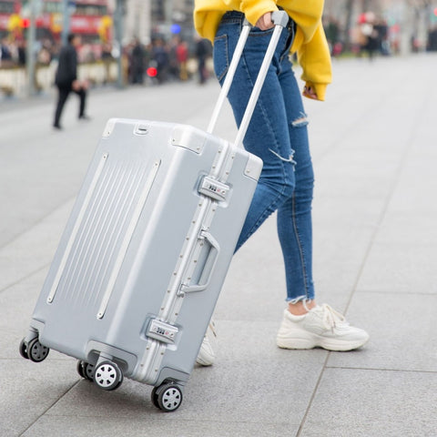 20'24'26'29' Aluminum Frame Suitcase Carry On Luggage Hardside Rolling Luggage Travel Trolley