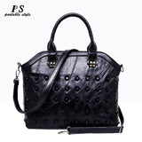 Newest Genuine Leather Rivet Shoulder Bag For Women Fashion Sheepskin Handbags Female Crossbody