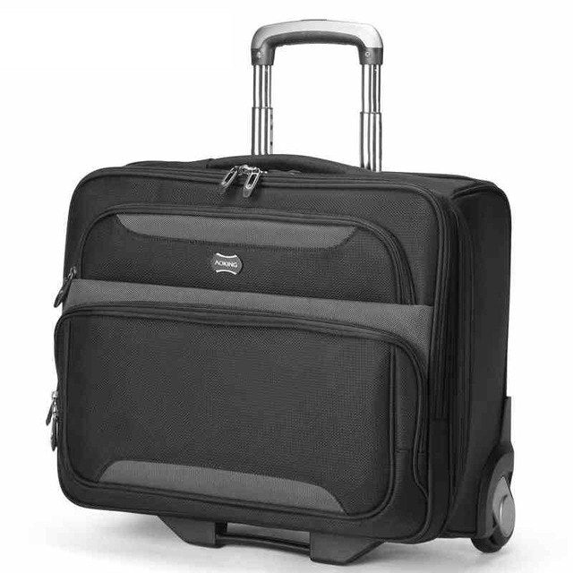 Letrend Business Rolling Luggage Casters Trolley Men Cabin Computer Wheel Suitcases Travel Duffle