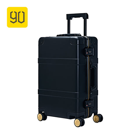 Xiaomi 90Fun Metal Suitcase Aluminum Alloy Luggage Carry On  With Spinner Wheels Smart Tsa