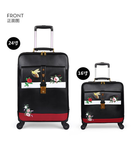 Carrylove Fashion Luggage Series 16/20/24 Inch Size High Quality Embroidery  Purolling Luggage