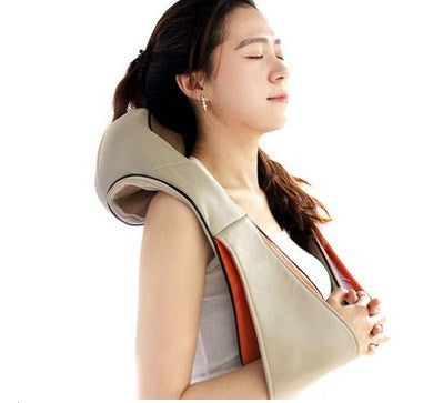 Electronic Infrare Heat Kneading Massager Massage Pillow Shoulder Neck Relax Pain Relief Full