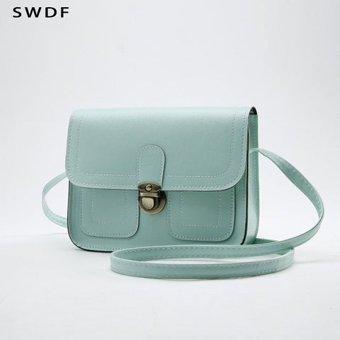 Swdf 2018 New Small Square Bag Ladies Car Line Fashion Handbag Retro Shoulder Bag Messenger Bag