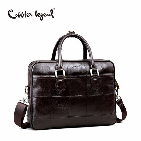 Cobbler Legend Brand Designer Men'S Real Leather Briefcase Bag For Male Crossbody Bags For 15''