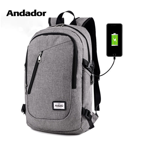 Fashion Man Laptop Backpack Usb Charging Computer Backpacks Casual Style Bags Large Male Business