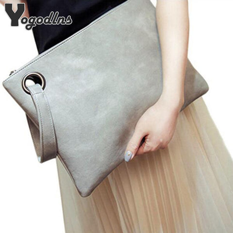 Fashion Solid Women'S Clutch Bag Leather Women Envelope Bag Clutch Evening Bag Female Clutches