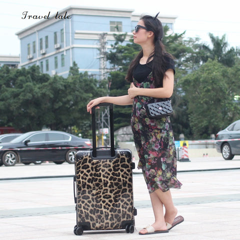 Travel Tale Sexy, Leopard, Fashionpc 20/24 Inch Size Rolling Luggage Spinner Brand Travel