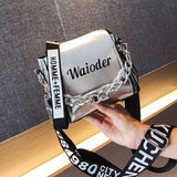 Dikizfly Laser Women Bags Fashion Luxury Shoulder Handbags Chains Crossbody Bag Women 2018 Letter