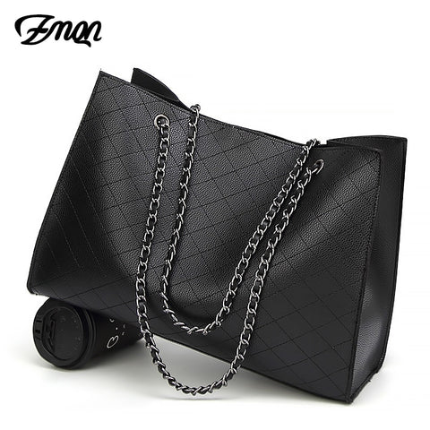 Zmqn Leather Bags For Women 2018 Luxury Handbags Women Bags Designer Big Tote Hand Bag Chain
