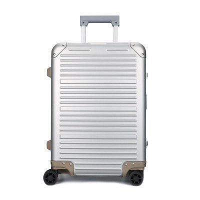 100% Full Aluminum Rolling Luggage Bag,Matte Travel Wheel Suitcases,New Strong Carry-On Box, 20""