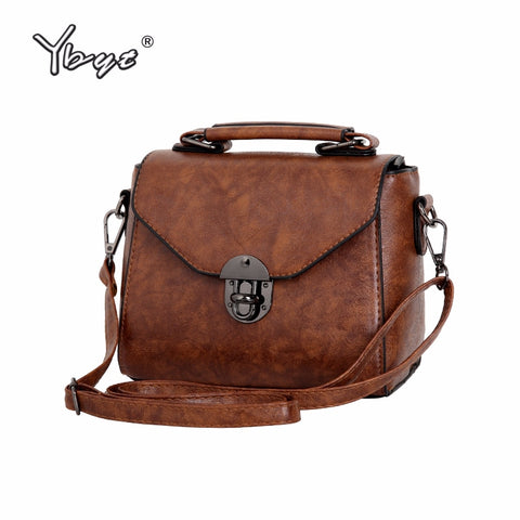 Ybyt Brand 2018 New Vintage Casual Women Pu Leather Small Package Female Simple Handbags Ladies