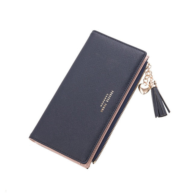 2018 Wallet Female For Coins Cute Wallet Women Long Leather Women Wallets Zipper Purses