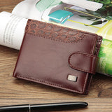 Baellerry Vintage Leather Hasp Small Wallet Coin Pocket Purse Card Holder Men Wallets Money Cartera