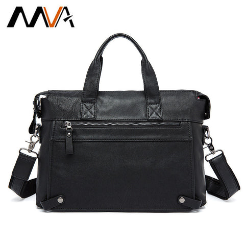 Mva Genuine Leather Bag Business Men Bags Laptop Tote Briefcases Crossbody Bags Shoulder Handbag