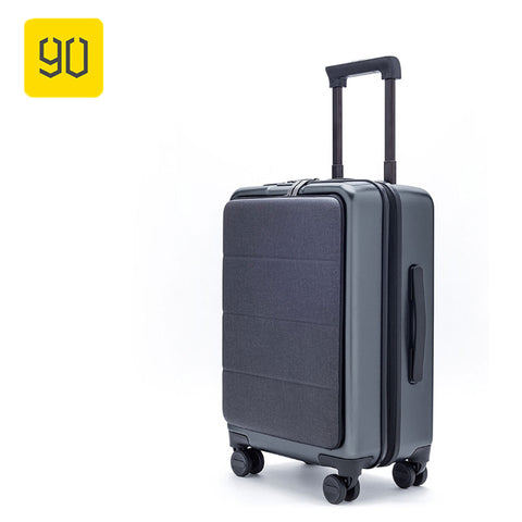 "90Fun Xiaomi Carry On Luggage 20"" Front Pocket Spinner Business Double Tsa Locks No Key Cabin"